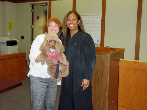 Fiona and Judge Curley