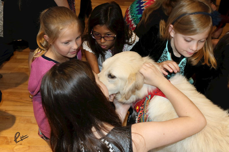 Pet Therapy dog with children