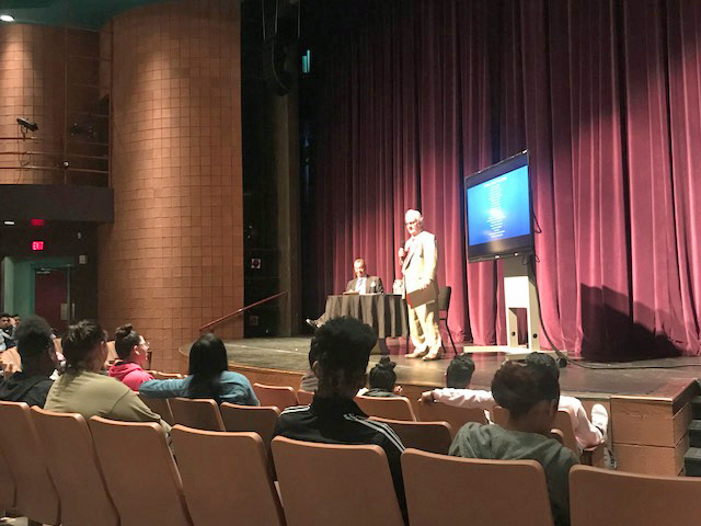 Civil Rights History Lecture at Booker High School